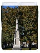 Graceland Cemetery - Garden Of The Dead Duvet Cover by Christine Till