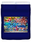 Graffiti Street Duvet Cover by Bill Cannon