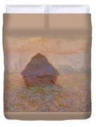 Grainstack  Sun In The Mist Duvet Cover by Claude Monet