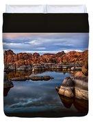 Granite Dells At Watson Lake Arizona 2 Duvet Cover by Dave Dilli