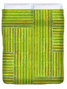 Grassy Green Stripes Duvet Cover by Michelle Calkins