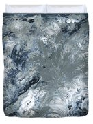 Gray Color Of Energy Duvet Cover by Ania Milo