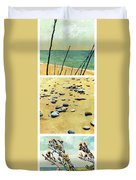 Great Lakes Triptych 2 Duvet Cover by Michelle Calkins