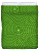 Green Abstract Duvet Cover by Frank Tschakert