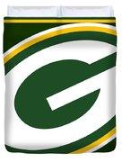 Green Bay Packers Duvet Cover by Tony Rubino