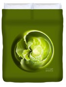 Green Cabbage Orb Duvet Cover by Anne Gilbert