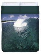 Green Curl Duvet Cover by Sean Davey