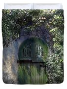 Green Door Duvet Cover by Terry Reynoldson