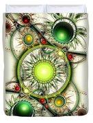 Green Jewelry Duvet Cover by Anastasiya Malakhova