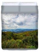 Green Knob Overlook Duvet Cover by John Haldane