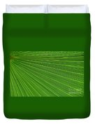Green Palm Abstract Duvet Cover by Kathleen Struckle