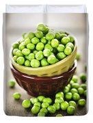 Green Peas Duvet Cover by Elena Elisseeva