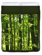 Green Spring Forest Duvet Cover by Elena Elisseeva