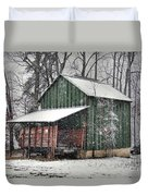 Green Tobacco Barn Duvet Cover by Benanne Stiens