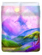 Greeting The Dawn Duvet Cover by Jane Small