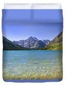 Grinnel Lake Glacier National Park Duvet Cover by Rich Franco