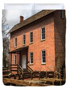 Grist Mill in Hobart Indiana Duvet Cover by Paul Velgos