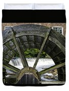 Grist Mill Wheel With Spillway Duvet Cover by Thomas Woolworth