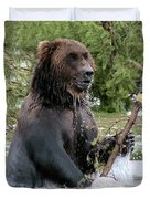 Grizzly Bear 6 Duvet Cover by Thomas Woolworth