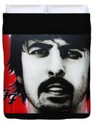 'grohl' Duvet Cover by Christian Chapman Art
