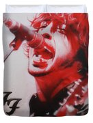'Grohl II' Duvet Cover by Christian Chapman