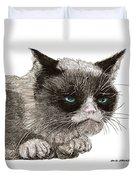 Grumpy Pussy Cat Duvet Cover by Jack Pumphrey