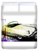 Grunge Retro Car Duvet Cover by David Ridley