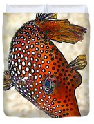 Guinea Fowl Puffer Fish Duvet Cover by Bill Caldwell -        ABeautifulSky Photography