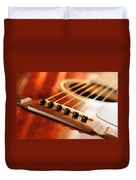 Guitar Bridge Duvet Cover by Elena Elisseeva