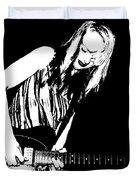 Guitar Girl Duvet Cover by Chris Berry