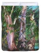 Gum Trees In Oz Duvet Cover by Carol Wisniewski