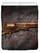 Gun - Colt Model 1851 - 36 Caliber Revolver Duvet Cover by Mike Savad
