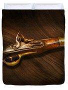Gun - Pistols at dawn Duvet Cover by Mike Savad
