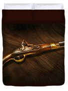 Gun - Pistols At Dawn Duvet Cover by Mike Savad