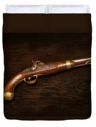 Gun - Us Pistol Model 1842 Duvet Cover by Mike Savad
