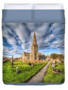 Gwyddelwern Church Duvet Cover by Adrian Evans
