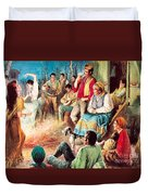 Gypsies Partying Duvet Cover by English School