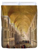 Haghia Sophia, Plate 2 The Narthex Duvet Cover by Gaspard Fossati