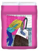 Hair Wash Duvet Cover by Elinor Rakowski