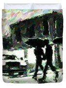 Halifax In The Rain One Duvet Cover by John Malone