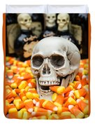 Halloween Candy Corn Duvet Cover by Edward Fielding