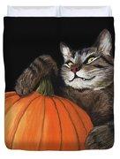 Halloween Cat Duvet Cover by Anastasiya Malakhova