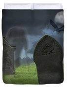 Halloween Graveyard Duvet Cover by Amanda And Christopher Elwell