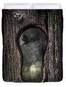 Halloween Keyhole Duvet Cover by Amanda Elwell