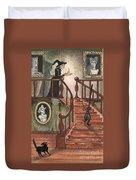 Halloween Witch Duvet Cover by Margaryta Yermolayeva