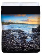 Hana Bay Sunrise Duvet Cover by Inge Johnsson