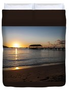 Hanalei Bay Sunset Duvet Cover by Brian Harig