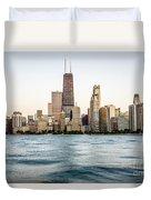 Hancock Building And Chicago Skyline Duvet Cover by Paul Velgos