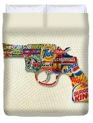 Handgun Logos Duvet Cover by Gary Grayson