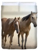 Hanging Out Together Duvet Cover by Betty LaRue